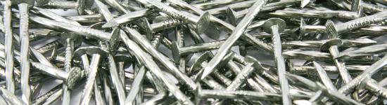 Chiodi a testa piana spiralati in acciaio inossidabile