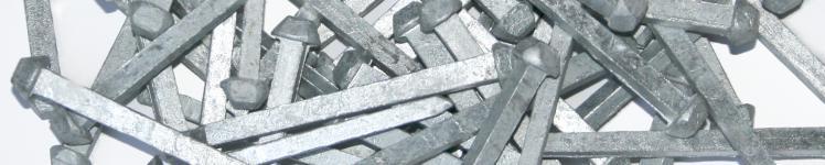 """Chiodi """"Caravella"""" in acciaio galvanizzato"""