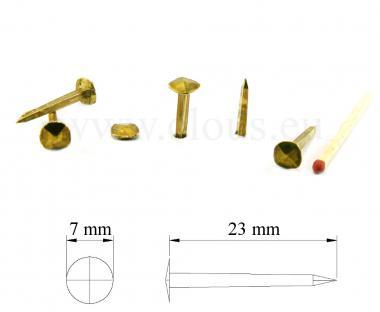 Chiodo forgiato in ottone (100 chiodi) L : 23 mm - Ø 8 mm