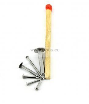 Chiodino a testa rotonda in acciaio (30g) L : 6 mm - Ø 0.8 mm
