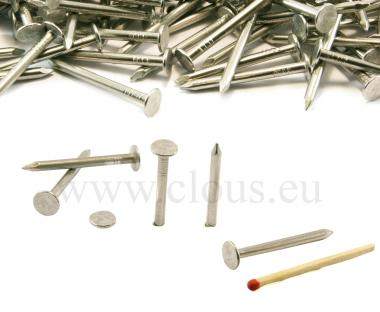 Chiodo a testa piatta larghissima in alluminio