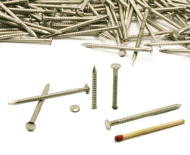 Chiodo con gambo anellato e testa rotonda in acciaio Inox Ø 2.70 mm (1kg)