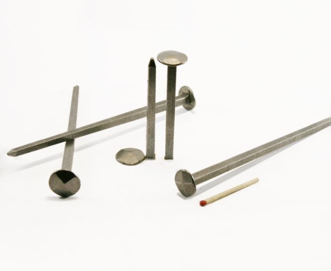 Chiodo forgiato a testa diamante in acciaio (100 chiodi) L : 130 mm - Ø 15 mm