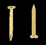 Chiodi miniaturi a testa piatta in ottone L : 7 mm - Ø 0.7 mm